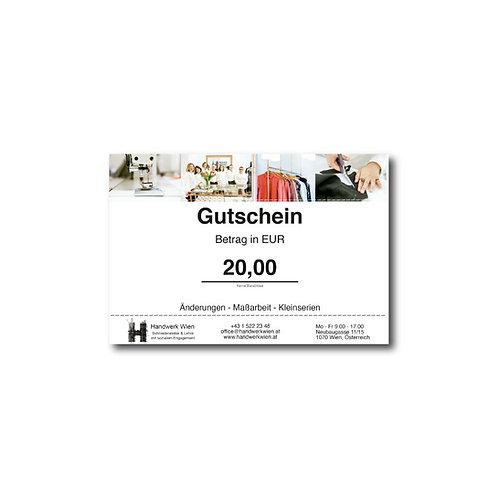 Gutschein EUR 20,00