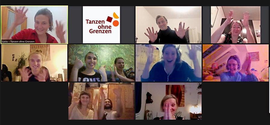 Bild: Bildschirmfoto vom ersten Moving Together Event online