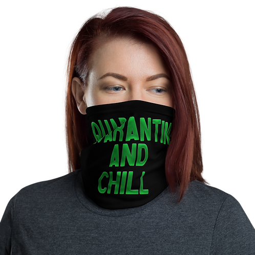 Quarantine and Chill FaceMask (Black/Green)
