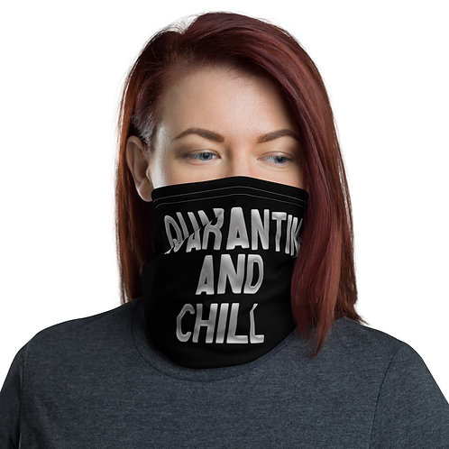Quarantine and Chill FaceMask (Black/Silver)