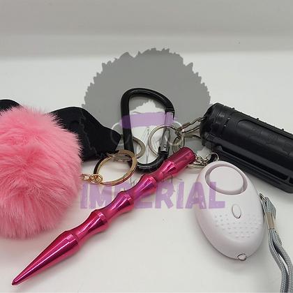 Pink Safety Defense keys