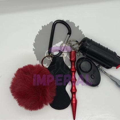 Dark Red Safety Defense keys