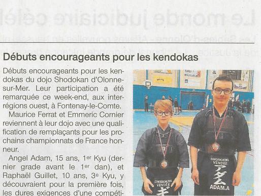 Des debuts encourageants pour les kendokas - Ouest France