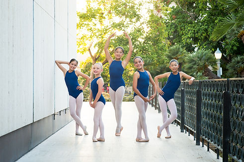 Group picture of ISB Level 3 dancers taken outdoors at Balboa Park in San Diego, CA.