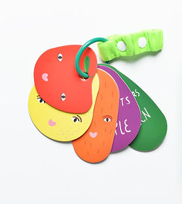 Stroller Cards - I Spy Fruit & Vegies