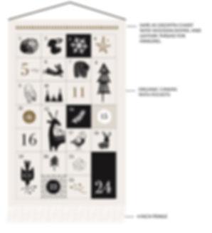 Organic Canvas Advent Calendar