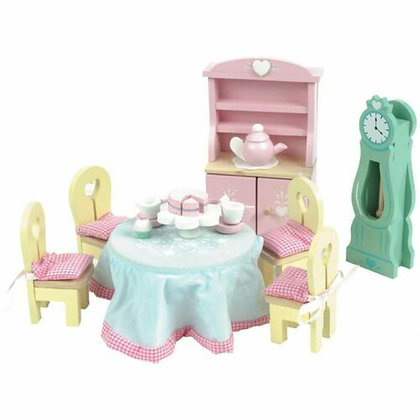 DINING ROOM DAISY LANE DOLLS HOUSE WOODEN  FURNITURE- FREE P&P