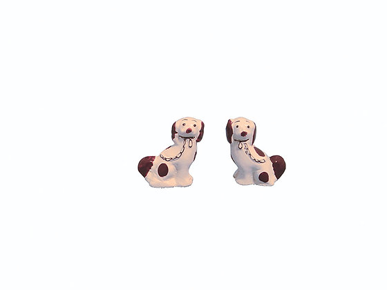 PAIR OF STAFFORDSHIRE DOGS  **FREE POST**