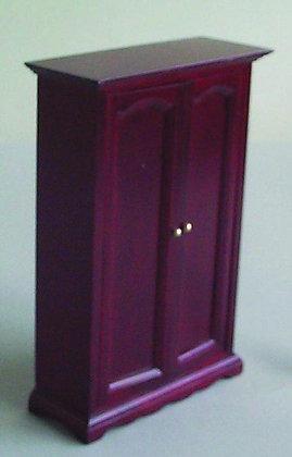 Mahogany coloured wooden wardrobe