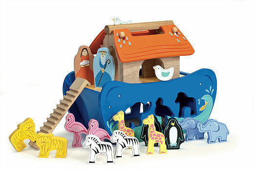 NOAHS ARK SHAPE SORTER  FREE UK POST