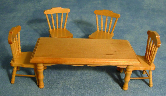 PINE KITCHEN TABLE WITH FOUR CHAIRS   S