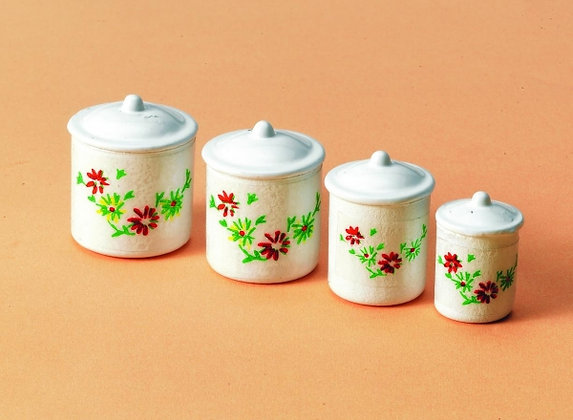 SET OF FOUR KITCHEN STORAGE CANNISTERS