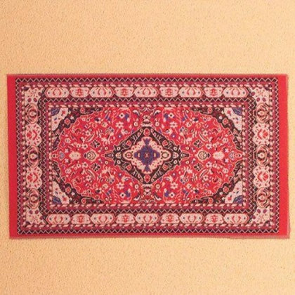 BEAUTIFULLY DETAILED RED ORIENTAL RUG  ***FREE POSTAGE**