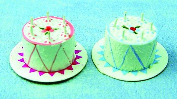 TWO BIRTHDAY CAKES  free post