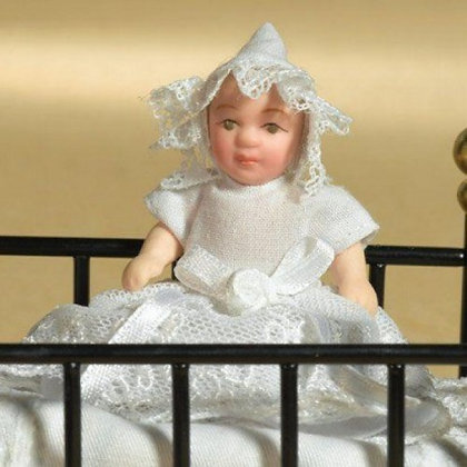 BABY MABEL PORCELAIN BABY DOLL 12TH SCALE