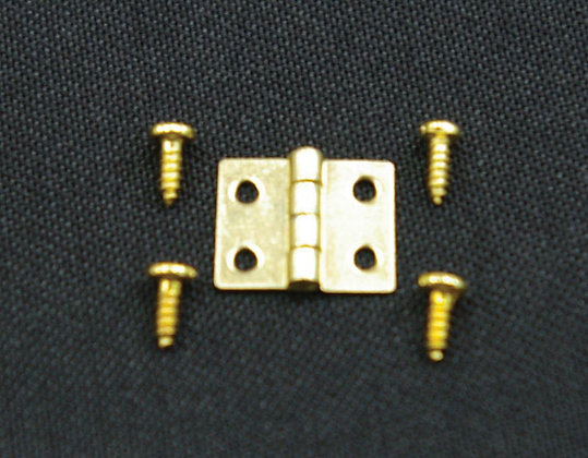 HINGES WITH SCREWS. 8MM - PACK OF 5. FREE UK POST