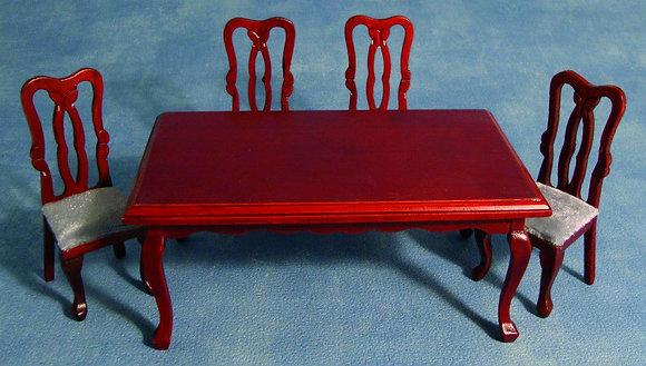 MAHOGANY TABLE AND CHAIRS FREE UK POST