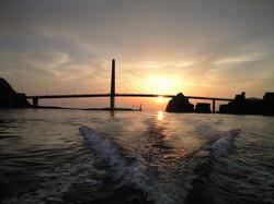 甑大明神橋002夕陽