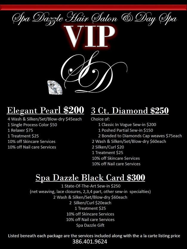 Spa Dazzle VIP Hair Services