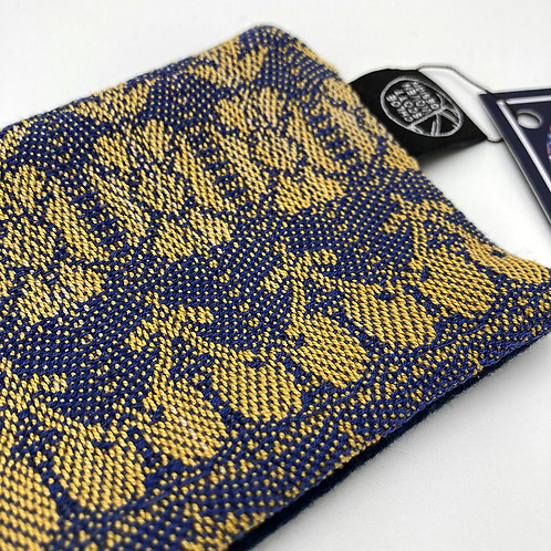 Handwoven Coin Purse - The Yellow and Blue One