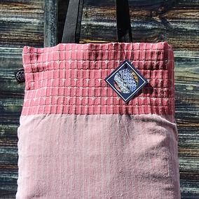 Handwoven Rose Tote Bag