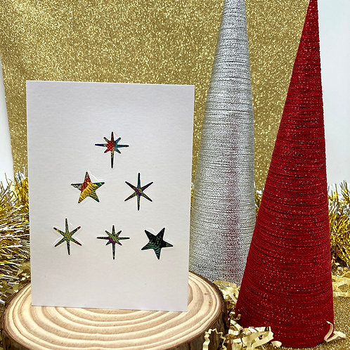 Handmade Star Tree Christmas Card