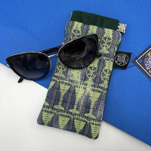 Handwoven Glasses Case - Green Hawaiian