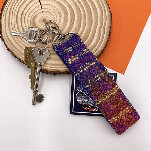 Handwoven Key Ring - Peach Cosmo