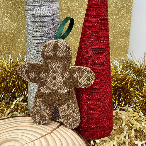 Handwoven Gingerbread Person Decoration - We are Golden