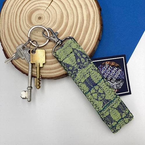 Handwoven Key Ring - Green Haze