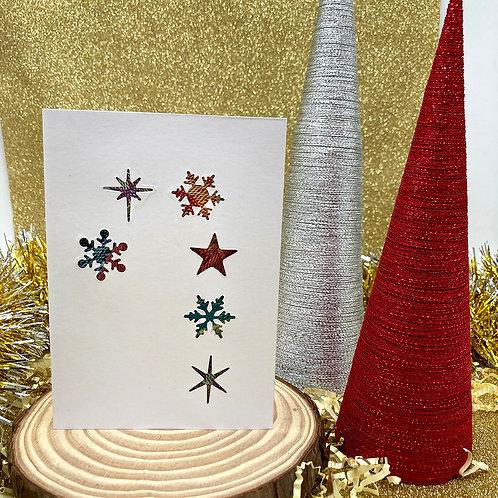 Handmade Candy Cane Christmas Card