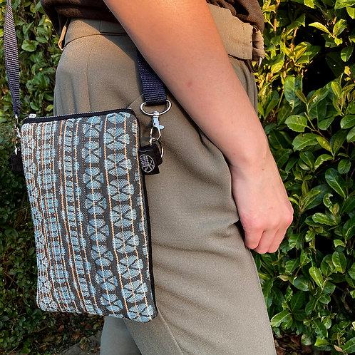 Handwoven Across the Body Bag - Amber light