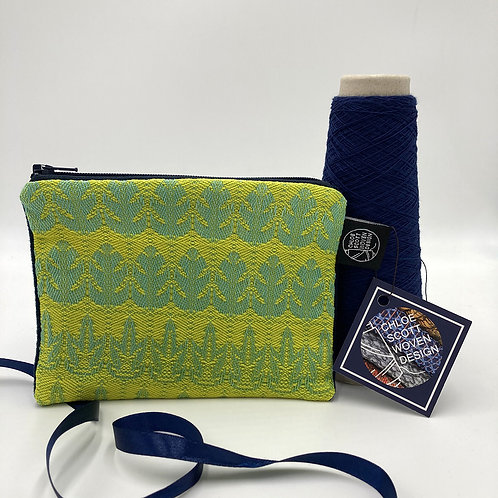 Handwoven Small Pouch - That's Certainly Neon