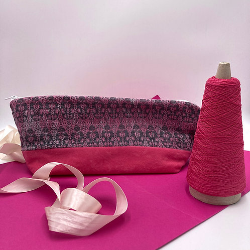 Handwoven Pencilcase - Whimsical Pink