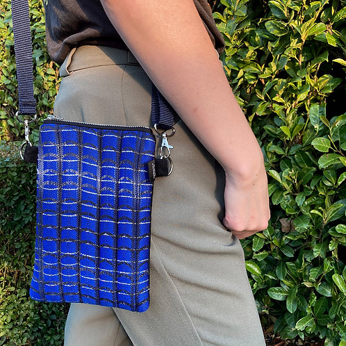Handwoven Across the Body Bag - Electric Line