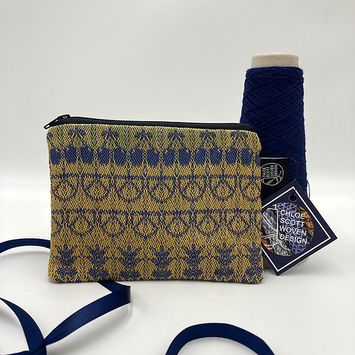 Handwoven Small Pouch - The Blue and Yellow One