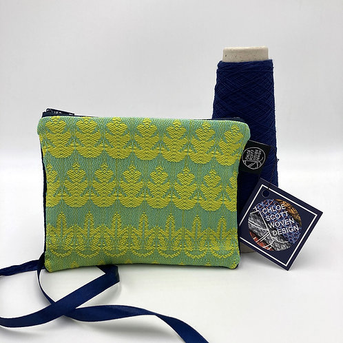 Handwoven Small Pouch - Exotic Green Leaf