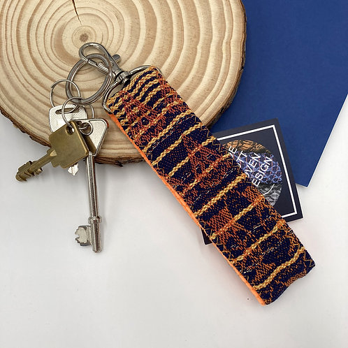 Handwoven Key Ring - Blue Lagoon