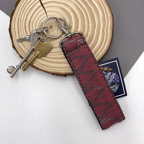 Handwoven Key Ring - Rose Tear