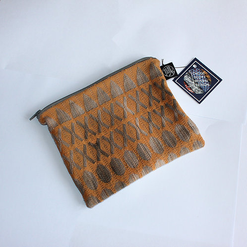 Handwoven Orange Medium Pouch (03)