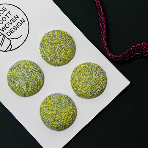 Handwoven Chunky Buttons - Lime Lady