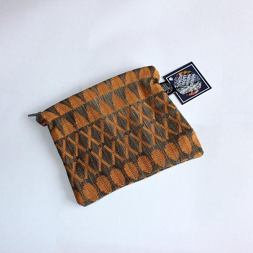 Handwoven Orange Medium Pouch (02)