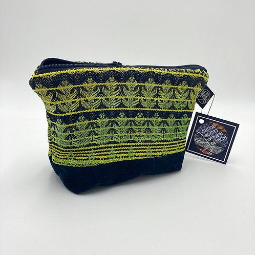 Handwoven Vivid Stripe Makeup Bag