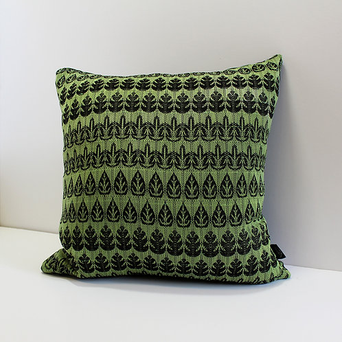 Handwoven Cushion - Canopy of Leaves