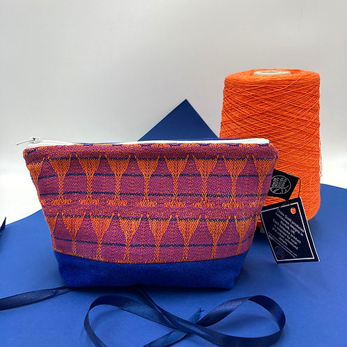 Handwoven Make-up Bag - Peach Bellini