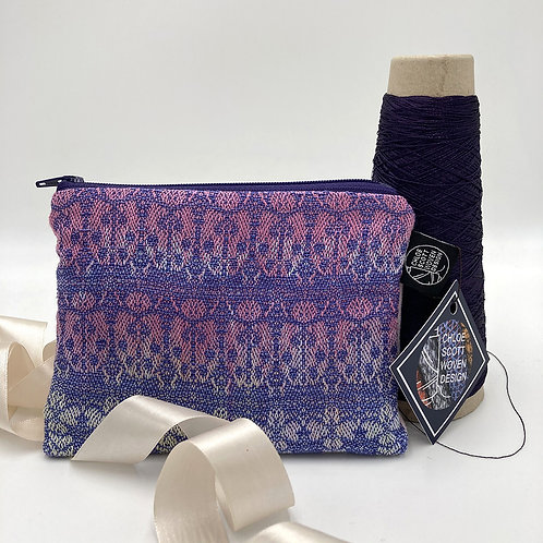 Handwoven Small Pouch - Purple Buddleia