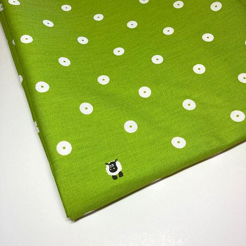 Green Spot Handmade Cotton Face Covering