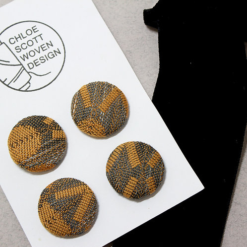 Handwoven Chunky Buttons - X's and O's