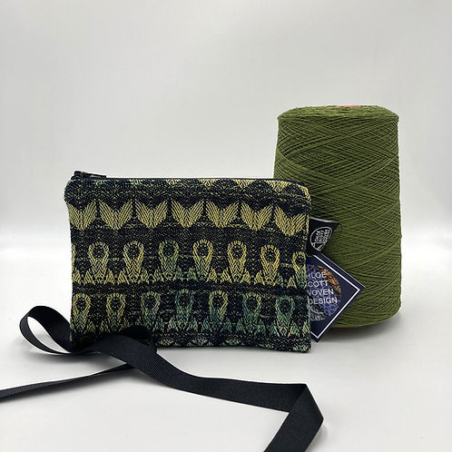 Handwoven Small Pouch - Black and Yellow