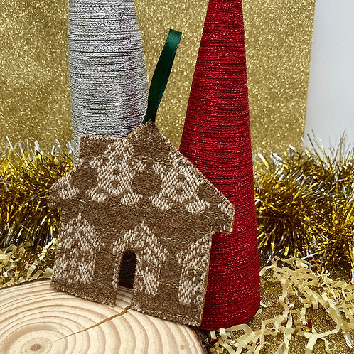 Handwoven Gingerbread House Decoration - We Are Golden